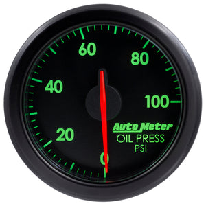 Autometer Airdrive 2-1/6in Oil Pressure Gauge 0-100 PSI - Black - 9152-T,throtl-dev.