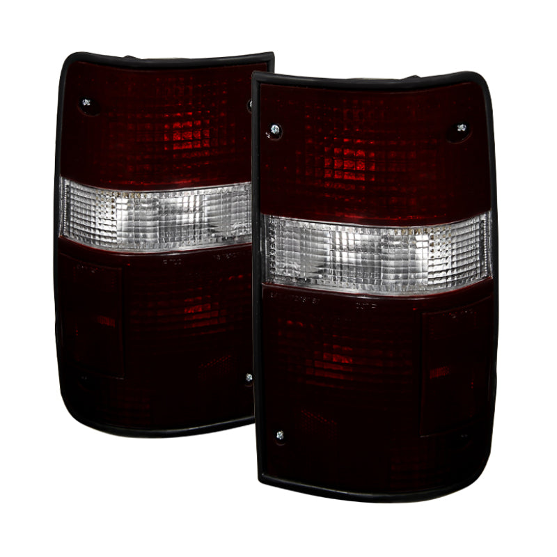 Xtune Toyota Pickup 89-95 OEM Style Tail Lights Red Smok - 9028977
