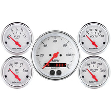 Load image into Gallery viewer, Autometer Arctic White 3-3/8in Electric Speedometer with 2-1/16in Volt/Water/Oil/Fuel - 1350,throtl-dev.