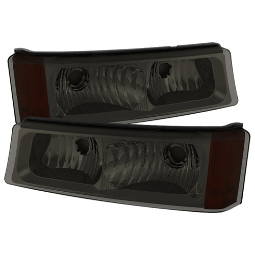 Xtune Chevy Silverado 03-06 Bumper Lights Smoke CBL-JH-C - 5079381
