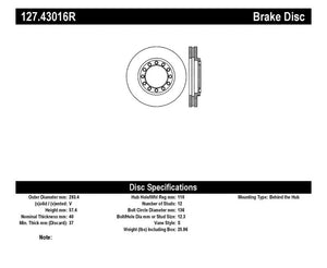 StopTech Slotted & Drilled Sport Brake Rotor - 127.43016R,throtl-dev.