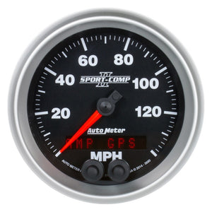 Autometer Sport-Comp II 3-3/8in 0-140MPH In-Dash Electronic GPS Programmable Speedometer - 3680,throtl-dev.