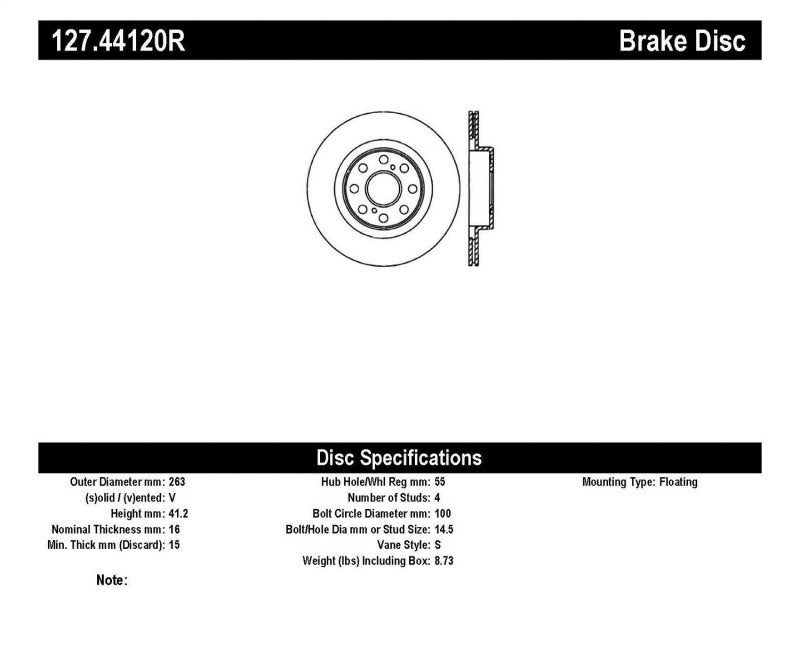 StopTech Slotted & Drilled Sport Brake Rotor - 127.44120R,throtl-dev.