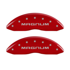 MGP 4 Caliper Covers Engraved Front & Rear Magnum Red - 12005SMGMRD,throtl-dev.