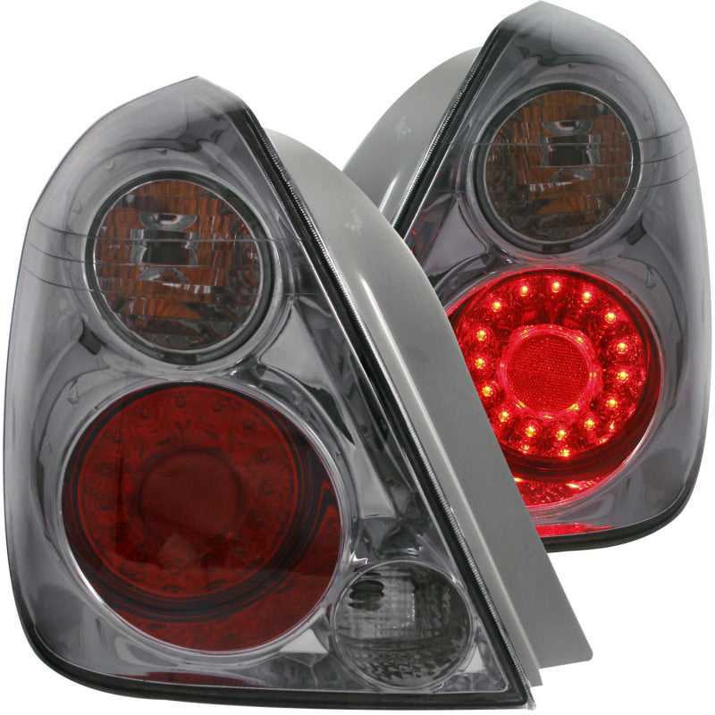 ANZO 2002-2006 Nissan Altima LED Taillights Smoke - 321255