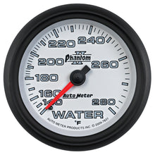 Load image into Gallery viewer, Autometer Phantom II 2-5/8in 140-280 Degree F Mechanical Water Gauge - 7831,throtl-dev.