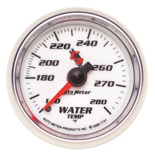 Load image into Gallery viewer, Autometer C2 52mm Mechanical 140-280 Deg F Water Temperature Gauge - 7131,throtl-dev.