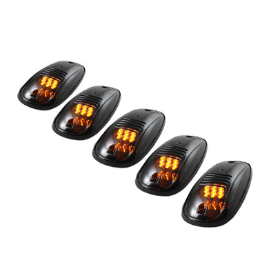 Xtune 5 pcs Roof Cab Marker Parking Running Lights Smoke - 5028198