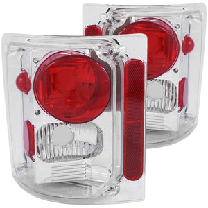 ANZO 1973-1987 Chevrolet C 10 Taillights Chrome - 211014
