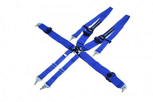 3-Inch 6-Point FHR Racing Harness - Blue -