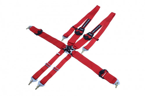 3-Inch 6-Point FHR Racing Harness - Red -