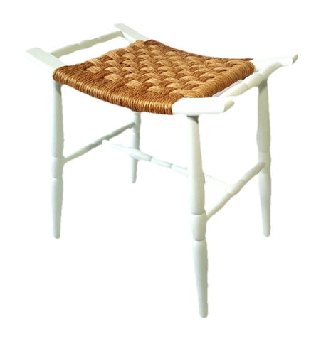 Wood Stool with Webbing