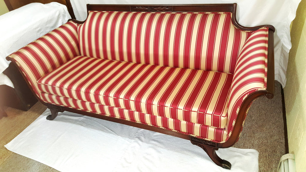 Beautiful ... Mid Century Duncan Phyfe Style Striped Sofa ...