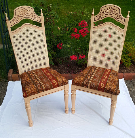 French Style Chairs in Ralph Lauren Fabric