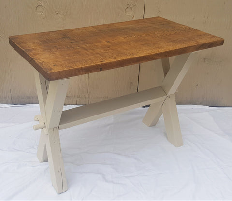 Two-Tone Farmhouse Style Table