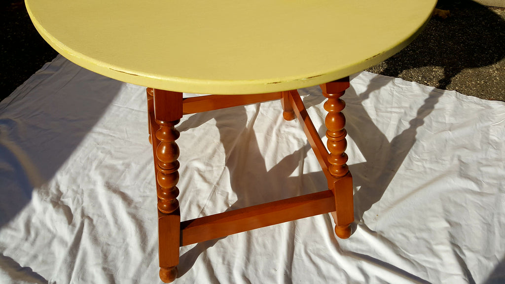 ... Maple Side Table In Soft Yellow ...