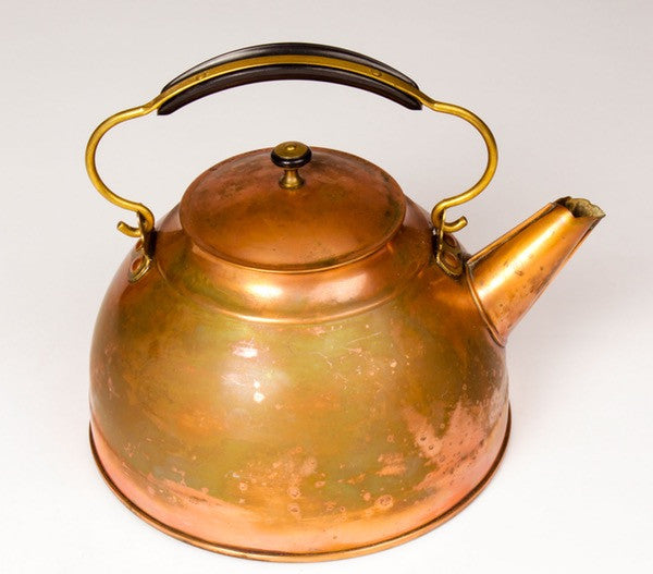 Copper Teapot by Revere (Curved Handle)