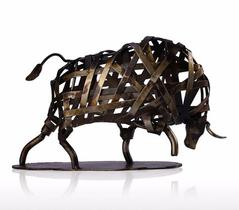 Bull in Weaving Brown Iron