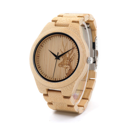 Deer Bamboo Wooden Watch