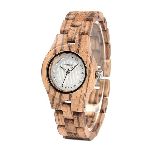 Ladies' Zebra Bamboo Wooden Watch