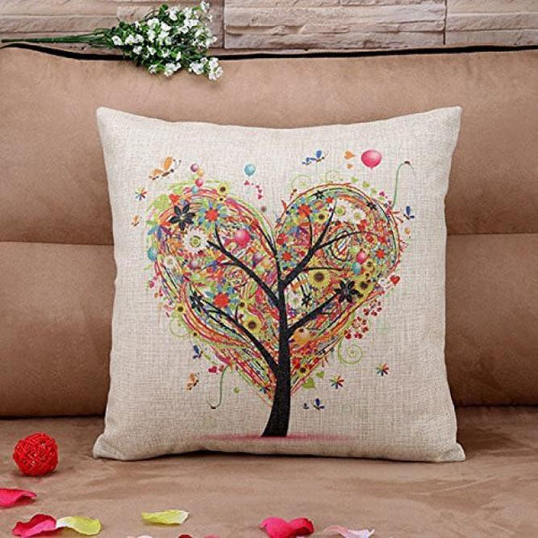 Colorful Tree Pillow Cover