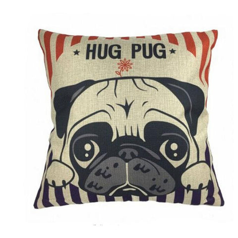 Hug Pug Pillow Case