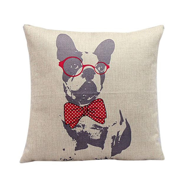 Fun Bulldog Pillow Case