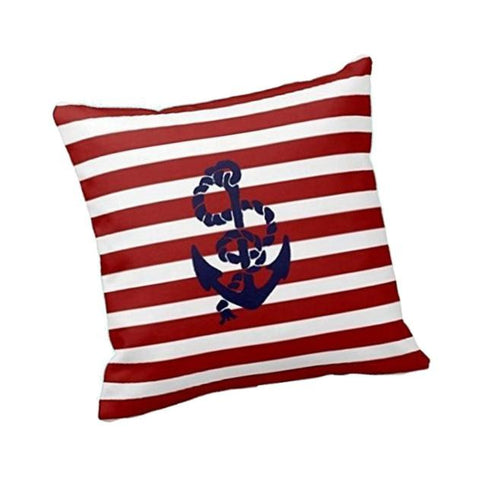 Anchor Stripes Pillow Case