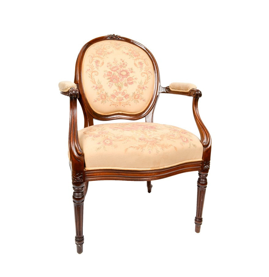 ... French Louis XVI Style Mahogany Fauteuil Chairs ...