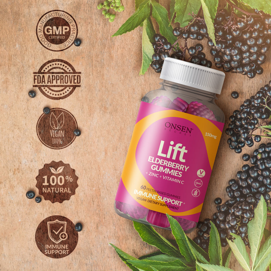Lift - Premium Elderberry Gummies 150mg - ONSEN  SECRET