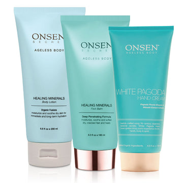Body Lotion - Foot Balm - Hand Cream Bundle - ONSEN  SECRET