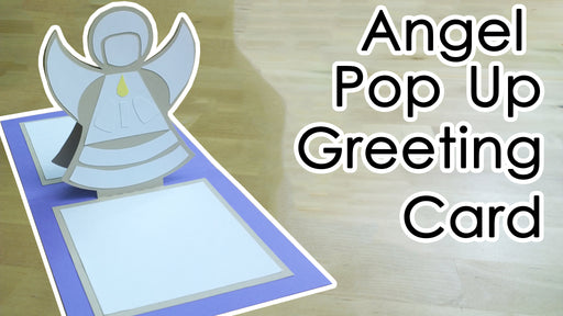 [Template + Tutorial] Christmas Pop-up Angel Greeting Card
