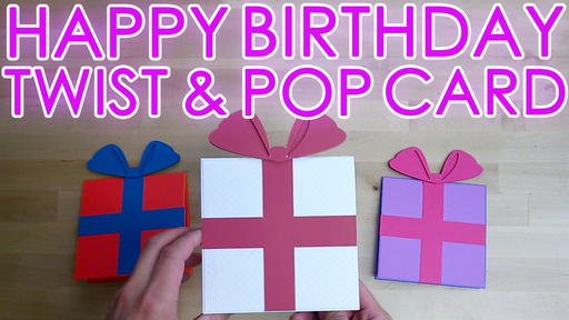 [Tutorial + Template] Birthday Twist Pop Up Card