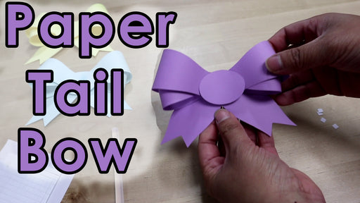 [Tutorial + Template] How To Make Paper Tail Bow