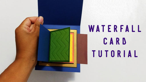 [Tutorial + Template] Learn How To Make A Waterfall Card!