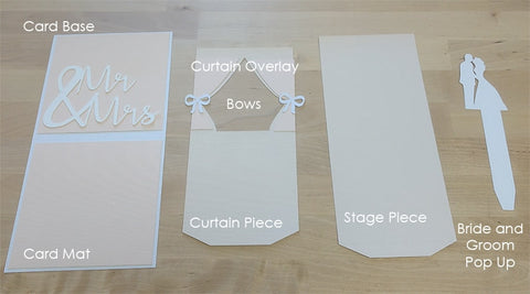 Tutorial Template Wedding Pop Up Card Paper Chaser To
