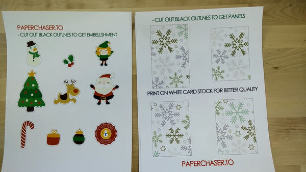 Tutorial template christmas card handmade greeting card box cut out the christmas card template with the desired method you have access too pronofoot35fo Choice Image