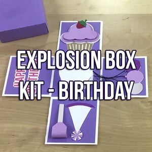 Explosion Box Kit: Birthday Theme + BONUS