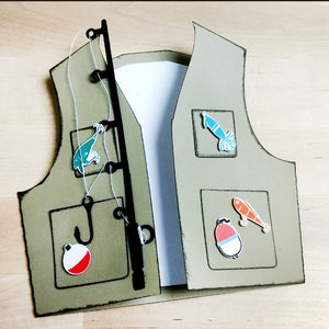 Fishing Vest Card Template