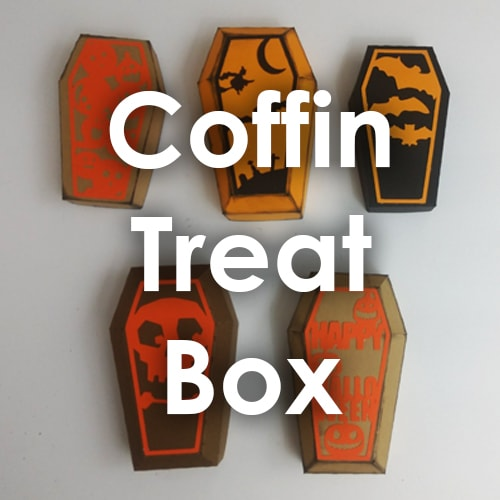 Coffin Treat Box Template