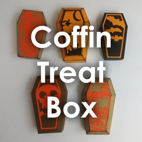 coffin treat box template paper chaser to