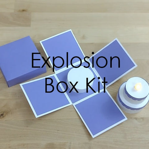Explosion Box Kit Template: Box, Mount, and Tealight