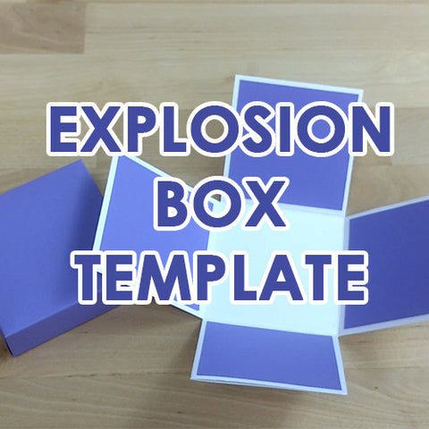 Explosion Box Template