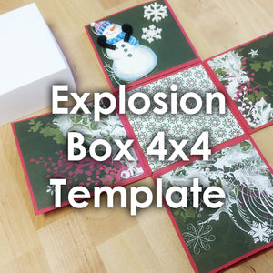 Explosion Box Template 4x4""