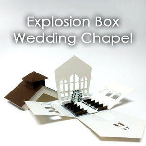 Explosion Box Kit: Wedding Chapel Theme Template