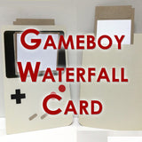 Gameboy Waterfall Card Template