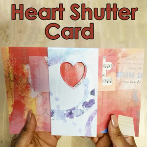 Heart Shutter Card Template
