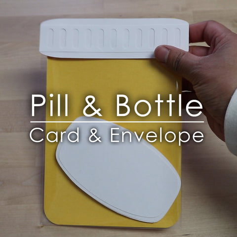 Pill Bottle Card+Envelope Template