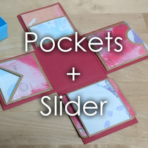 Explosion Box Accessory: Pockets + Slider Card