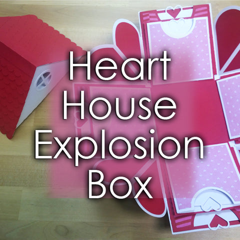 Heart House Explosion Box Template